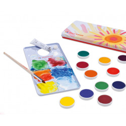STOCKMAR - Scatola di vernice opaca - 12 colori