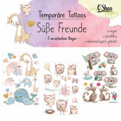 Lipfein - adhesive tattoos sweet friends - 3 sheets