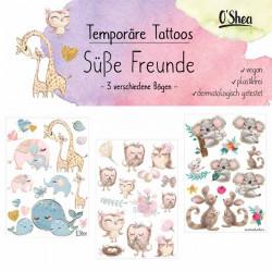 Lipfein - Klebe-Tattoos süße Freunde - 3 Bögen