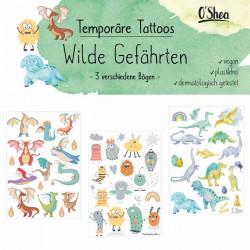 Lipfein - Klebe-Tattoos Wilde Gefährten - 3 Bögen