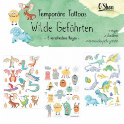 Lipfein - tatuaggi adesivi Compagni selvaggi - 3 fogli