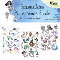 Lipfein - tatuaggi adesivi splashing gang - 3 fogli