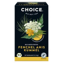 CHOICE - Fenchel Anis Kümmel Bio Tee - 40g