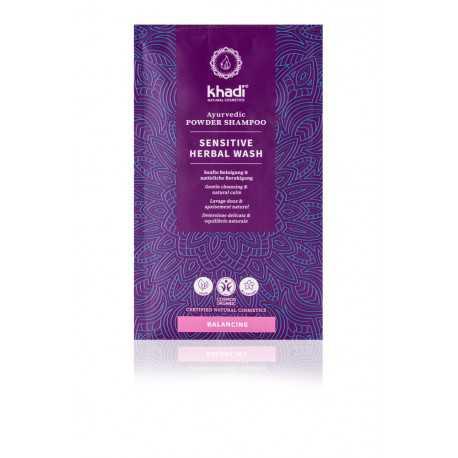 Khadi - sensitive herbal wash shampoo powder - 50g