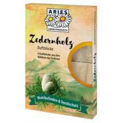 Aries - Zedernholz Duftblöcke gegen Motten - 4 St