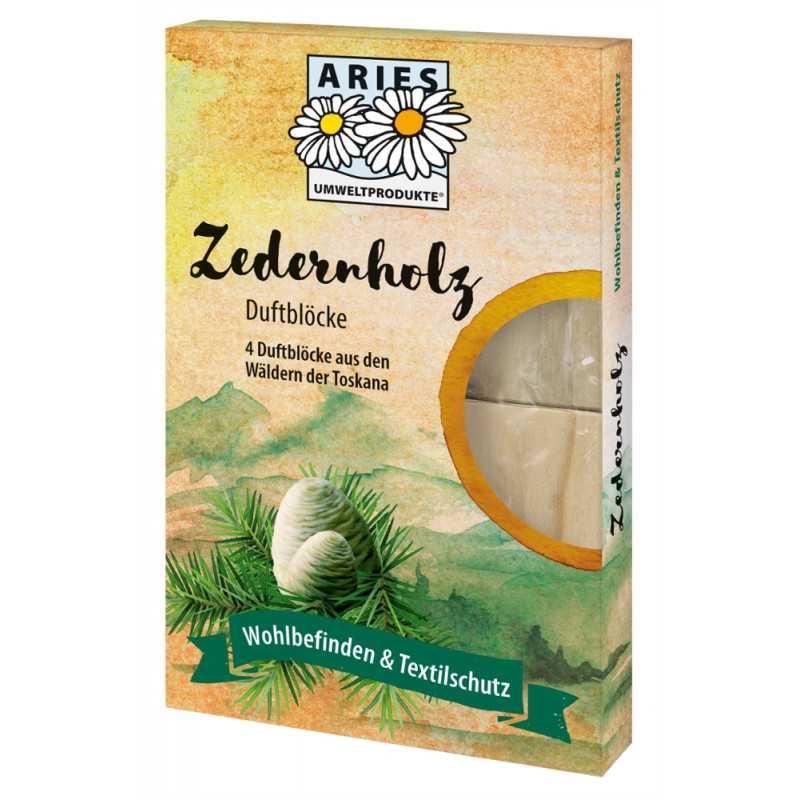 Aries - cedar wood fragrance blocks against moths - 4 pcs