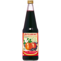 Beutelsbacher - apple and elderberry juice, naturally cloudy - 0.7l