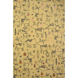ZoeWie - eco wrapping paper moose - 1 roll