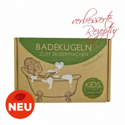 Lipfein - DIY-Badebomben Set KIDS - grüne Apfelbadekugeln