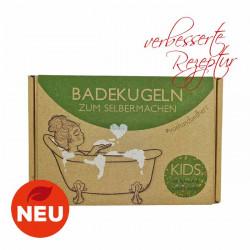 Lipfein - DIY bath bomb set KIDS - green apple bath balls