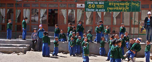 Die Kinder im Tibetan Childrens Village.