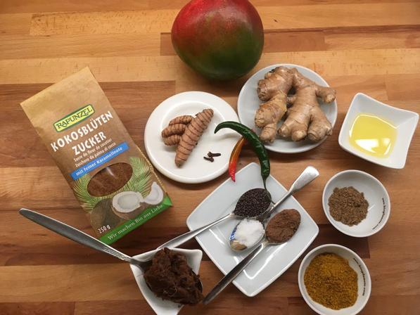 Zuttaten für das Tamarinden-Chutney Rezept
