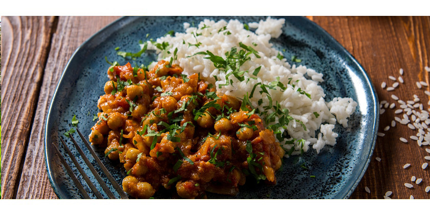 Rezept: Ayurvedisches Thali #2: Curry, Reis und Chutney